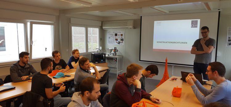 Workshop mit angehenden Technikern