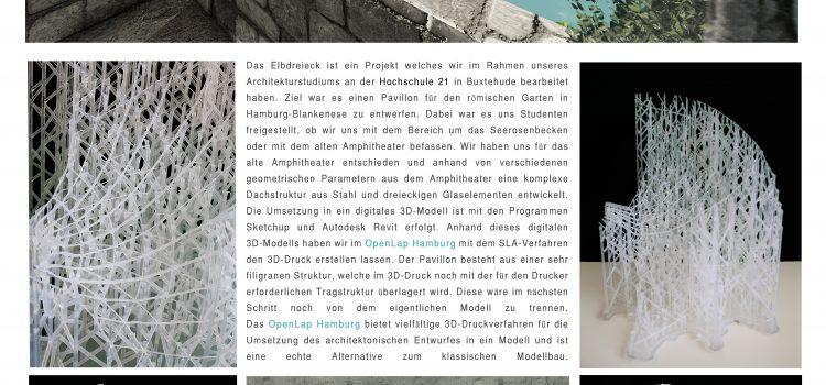 Elbdreieck: 3D-Druck Pavillon